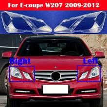 Reflektor samochodowy pokrywa reflektor abażur dla mercedes-benz e-class Coupe W207 2009-2012 klosz szklany obiektyw Shell e-coupe C207