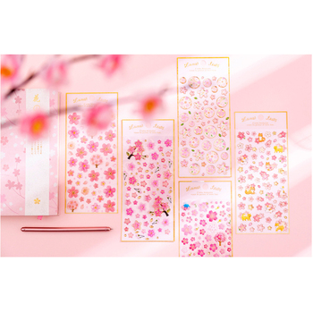 1pcs/pack Cherry Blossom Series Waterpoof For Children Kids Boy Girl Gifts Diary Decoration Scrapbooking