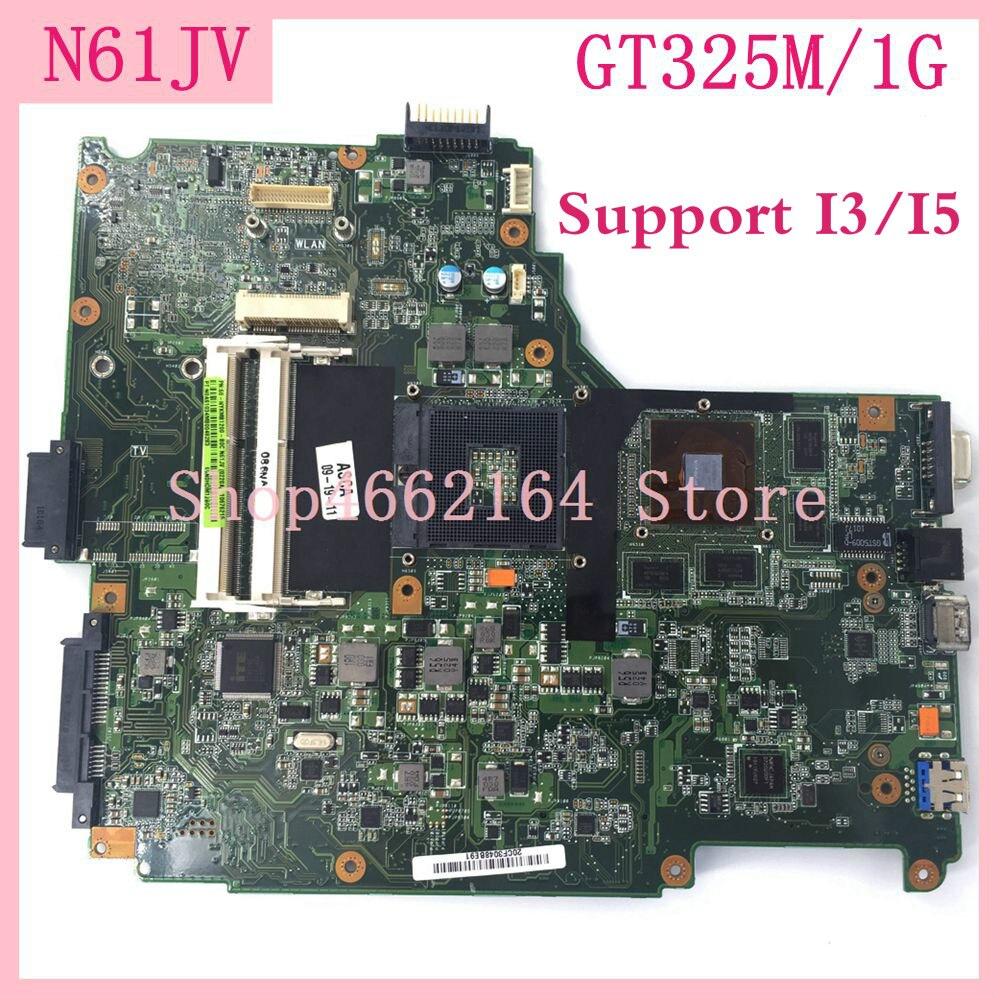 N61JV  Motherboard GT325M/1G N61JV Motherboard For ASUS N61JV Laptop Mainboard N61JV N61J Motherboard 100% Tested OK