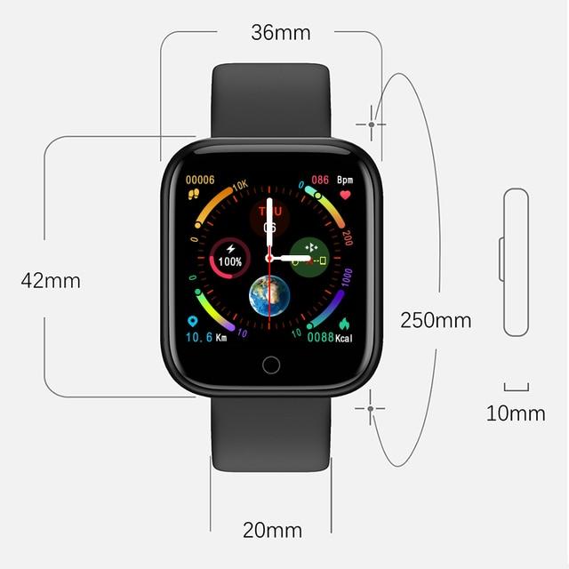Lerbyee P70 Thể Thao Đồng Hồ Thông Minh Đo Nhịp Tim Nhắc Cuộc Gọi Thể Dục Chống Nước Điều Khiển Nhạc Đồng Hồ Thông Minh Smartwatch Dành Cho IOS Android
