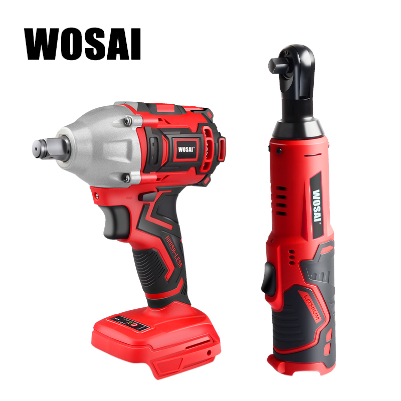 WOSAI 20V Electric Wrench Lithium Battery Max Torque 280N.m 320N.m Cordless Electrical Impact Wrench Cordless Ratchet Wrench