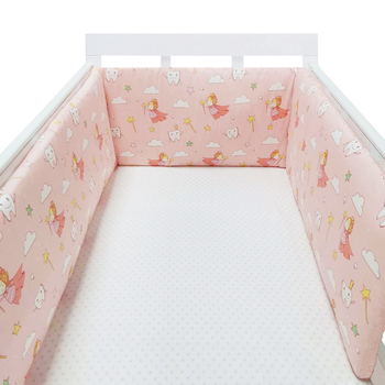 baby nursery Nordic Stars Design Baby Bed Thicken Bumper One-piece Crib Around Cushion Cot Protector Pillows Newborns Room Decor 35