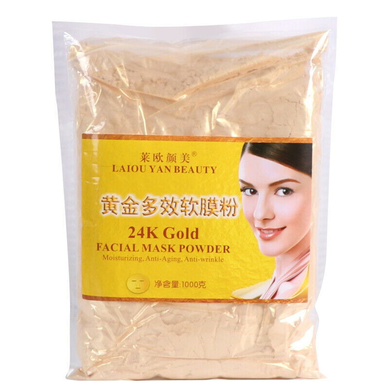 800 g máscara de ouro 24 K atividade rosto Spa de luxo brilho Anti rugas de envelhecimento tratamento de beleza
