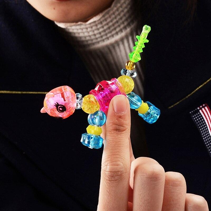 Wholesale Cross border hot toys, deformed animals Bracelet super sprouting surprise twist magic pet DIY children Bracelet bangle