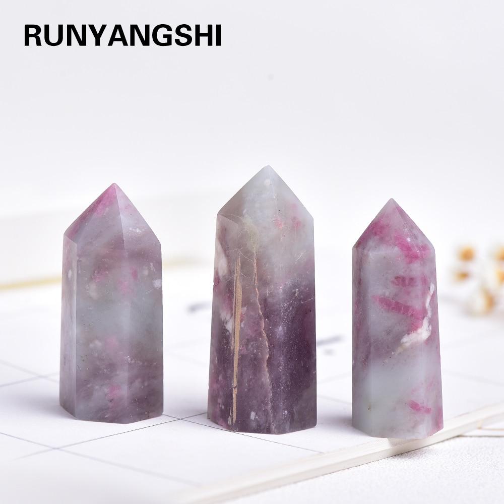 35-45 мм 1 шт. натуральный цветок сливы турмалин кристалл точка для украшения дома минеральный DIY подарок