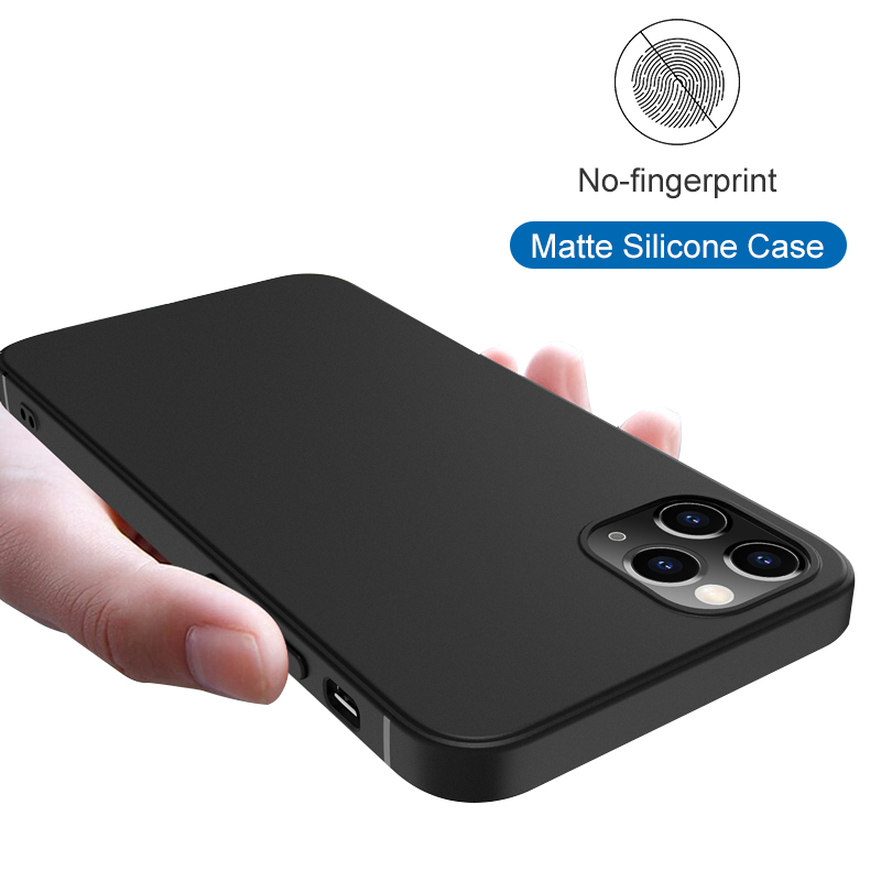 Luxury Matte Silicone Case For Iphone 12 Mini 11 Pro XS Max X XR Ultra Thin Soft Case For Iphone 7 8 6 6S Plus SE 2020 5 5S Capa