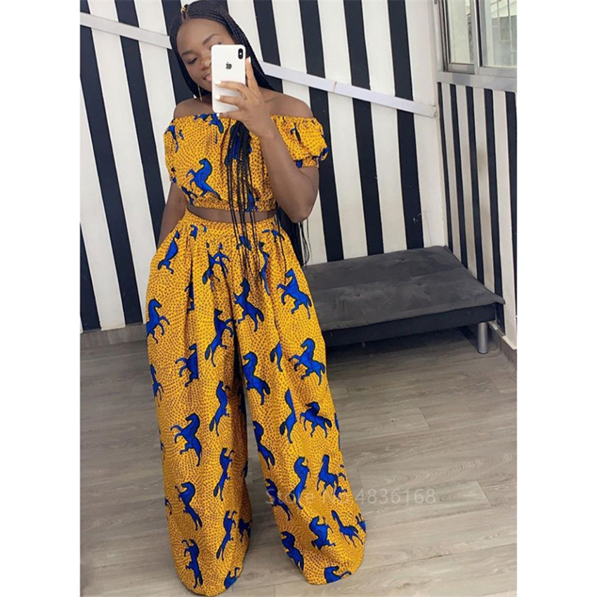 @Queen African Top + Trousers plus size 4