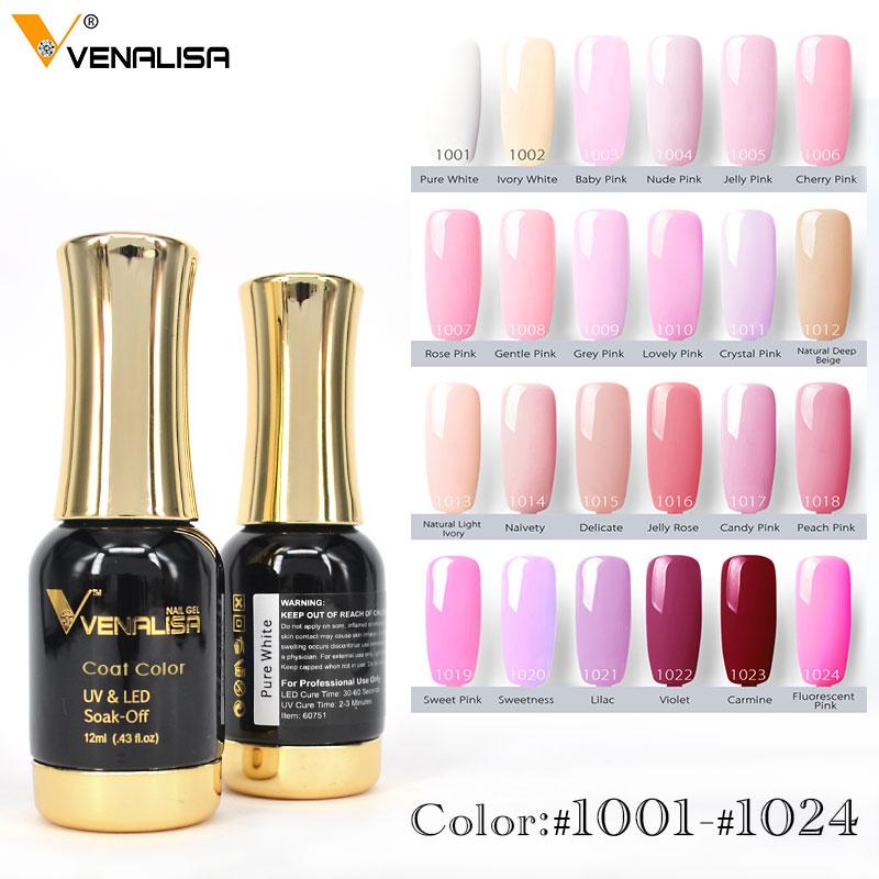 #60751 Venalisa Nail Gel Polish High Quality Nail Art Salon Tip 120 Color 12ml VENALISA Soak Off Organic UV LED Nail Gel Varnish