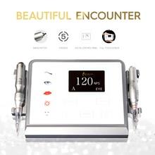 Biomaser P1 Permanente Make Up Machine Apparaat Kit 12V Coreless Motor 5 Modus Intelligente Digitale Touch Screen Machine Tattoo Set