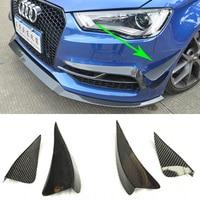 S Line S3 Carbon Fiber Front Bumper Canards Splitter Voor Audi S3 Sline 2014 ~ 2016 Sedan