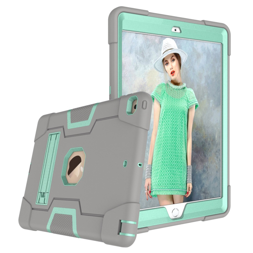 Grey - Aqua Pink For iPad 10 2 2019 7th Gen A2197 A2198 A2200 A2232 Case Shockproof Kids Safe PC