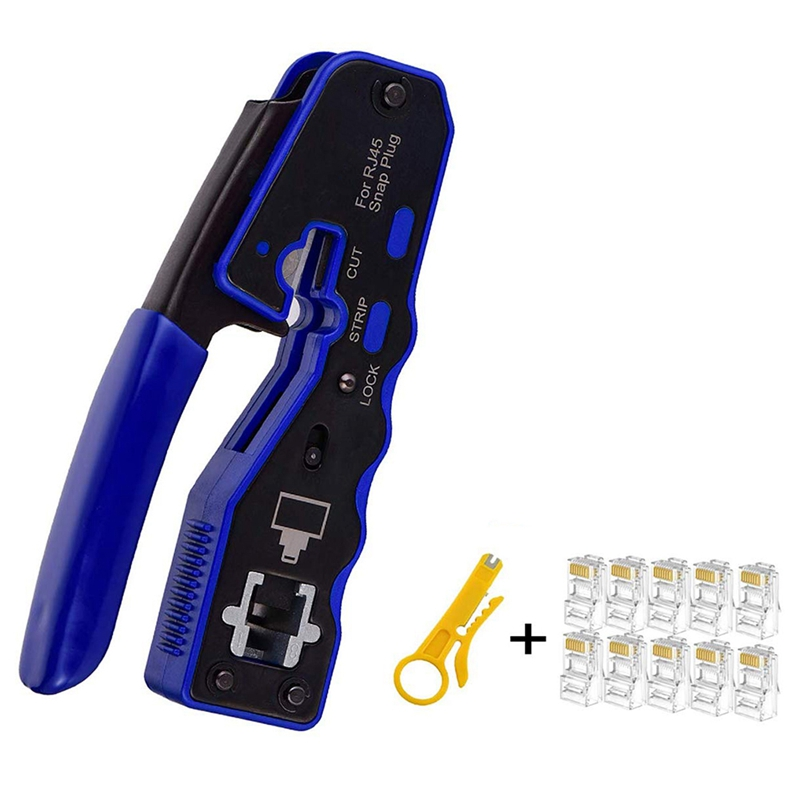 Offre spéciale pour trousse à outils à sertir RJ45, outil à sertir tout-en-un pour connecteurs RJ45 Cat6 Cat5 Cat5E