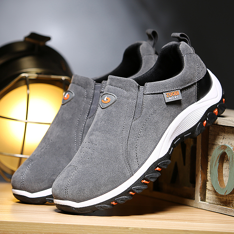 VSA269, Slip-on men loafers suede moccasins spring summer driving shoes comfortable light footwear soft flats hombres size 38-48 4