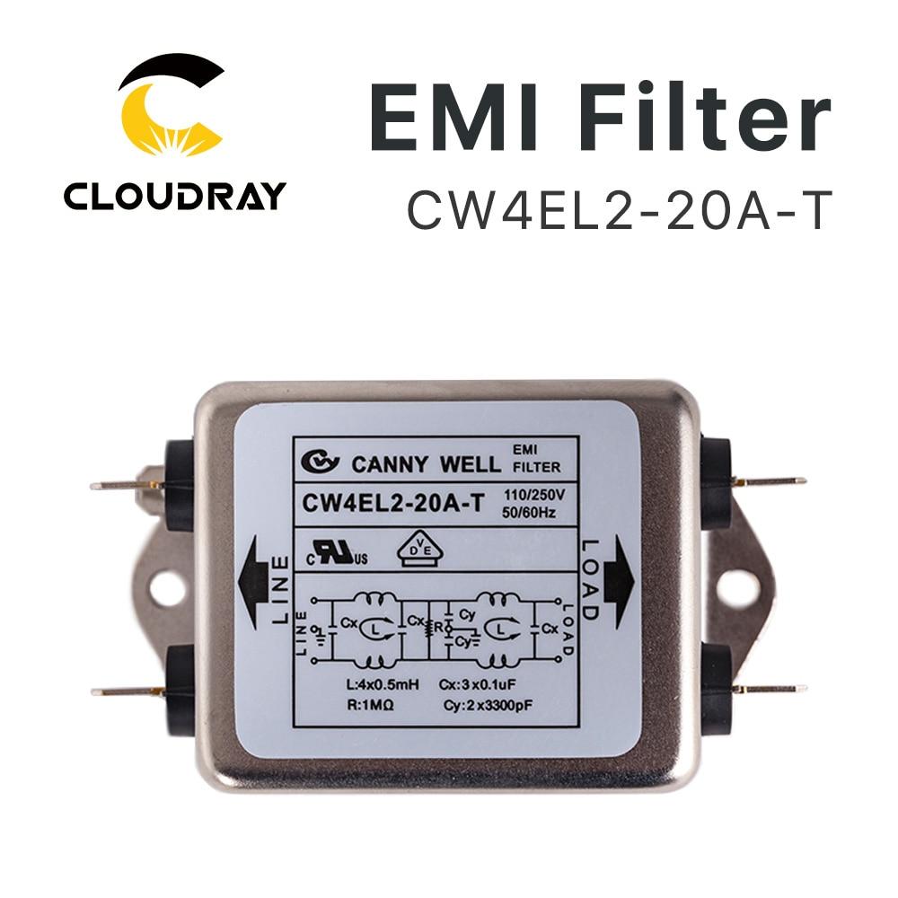Filtr EMI Cloudray Mocy CW4L2-10A-T / CW4L2-20A-T Jednofazowy AC 115 - Części maszyn do obróbki drewna - Zdjęcie 2