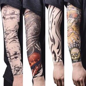 Fashion Men Tattoo Sleeve Stretchy UV Protection Slip Elastic Nylon Tattoo Arm Leg Sleeves for Women Sun Protection 1pc