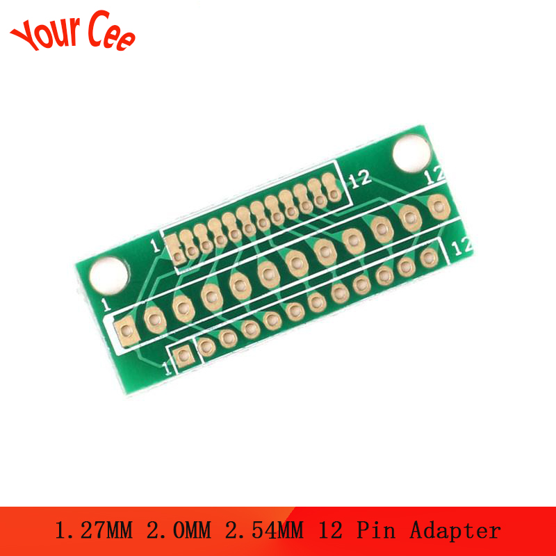 10pcs 1.27MM 2.0MM 2.54MM 12 Pin Adapter Board Connector 12P For Wireless Modules