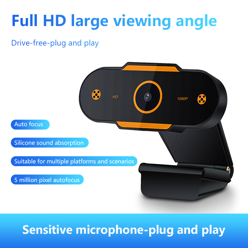 New High Quality 480/720/1080P/2k Web Camera 5 Million Pixels HD Webcam USB 2.0 Auto Focus Video Call With Microphone For Laptop