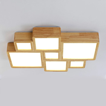 Japanese Solid Wood Ceiling Lamp Simple Creative Kitchen Ceiling Lights for Living Room Bedroom Study Home Decor Light Fixtures