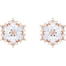 High Quality 1:1 Swa Magic Earrings Snowflake Modeling Euro-American Simple Fashion Belt Earrings цена