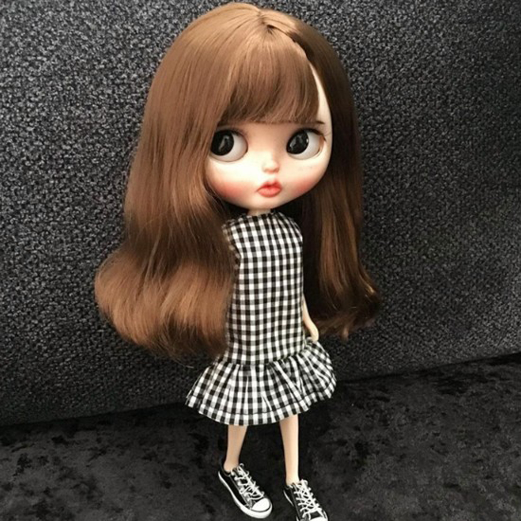 """12/"""" for Blythe Outfit Handmade Doll 1//6 BJD Doll Clothes Accessories shoes Brown"""
