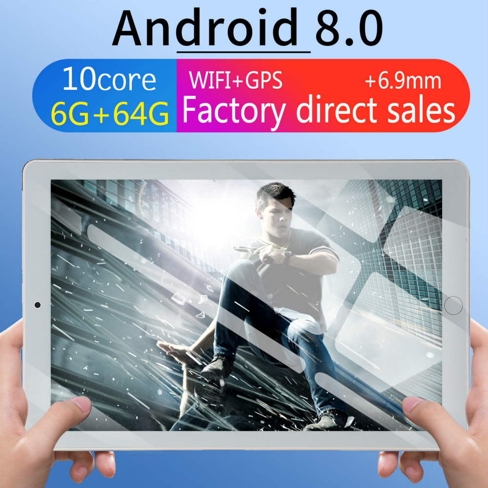10 Tablet Screen Mutlti Touch Android 8.0 Octa Core Ram 6GB ROM 64GB Camera 5MP Wifi 10 Inch Tablet 4G LTE Pro Pc 2020