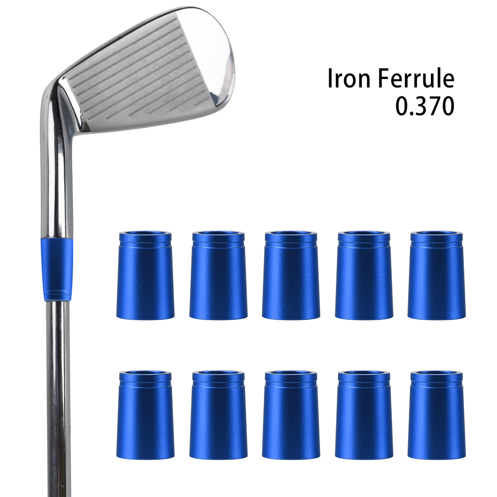 Dull Polish Golf Club Aluminum Ferrules - 4 Colours - For .355
