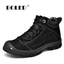 Очень теплые мужские ботинки размера плюс; Зимние водонепроницаемые