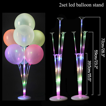LED Light Air Balls Balloon Stand Column Wedding Table Decoration Balloons Holder Christmas Baloon Baby Shower Birthday Party 10
