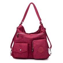 Mochila multifunción 3 en 1 para mujer, bolso de hombro de tela de nailon, bolsa de compras reutilizable, bolso de viaje cruzado