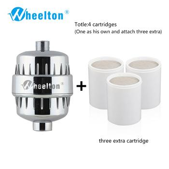 Wheelton wanna filtr prysznicowy (H-303-3E) zmiękczacz chlor i Heavy Metal usuwanie filtr do oczyszczania wody dla zdrowia kąpiel tanie i dobre opinie Shower Filtration Water Purifier RoHS Ion Exchange Resin Terminal oczyszczanie Jun-15 Wodę komunalnych Ppf bawełna Lean to Alkaline Water