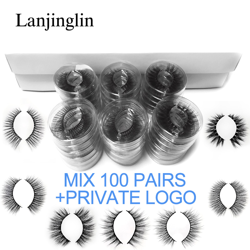 Wholesale Mink False Eyelashes 20/30/40/50/70/100 Pairs 3d Fluffy Wispy Fake Lashes Natural Long Makeup Lash Extension In Bulk