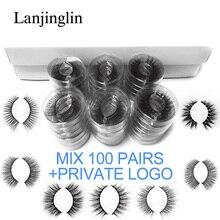 wholesale mink false eyelashes 20/30/40/50/70/100 pairs 3d fluffy wispy fake lashes natural long makeup lash extension in bulk