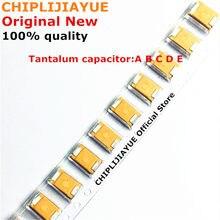 10 pces capacitor de tântalo tipo d 2.5v 4v 6v 6.3v 10v 16v 25v 35v 50v 4.7/6.8/10/15/22/33/47uf 100/150/220/330/470/680/UF D7343