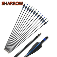6/12pcs 30 Archery Spine 500 Fiberglass Arrows Glass Fiber Arrow Replaceable Broadhead For Bow Shooting Hunting Accessories