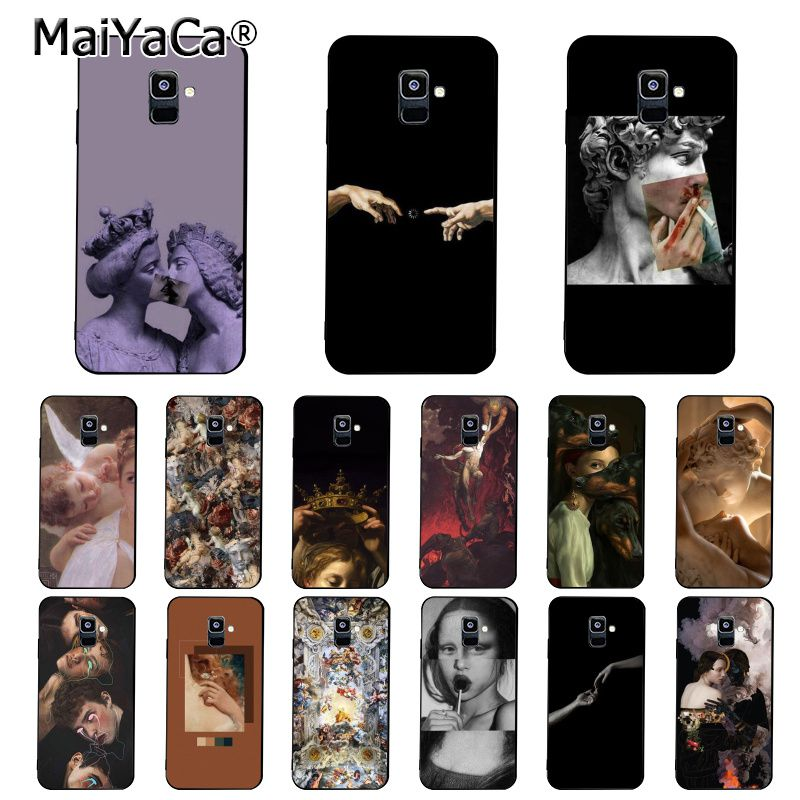 MaiYaCa Vintage Plaster Statue David aesthetic Art Phone <font><b>Case</b></font> For <font><b>Samsung</b></font> Galaxy A7 A8 A6 Plus A9 2018 A50 A70 A20 A30 A40 image