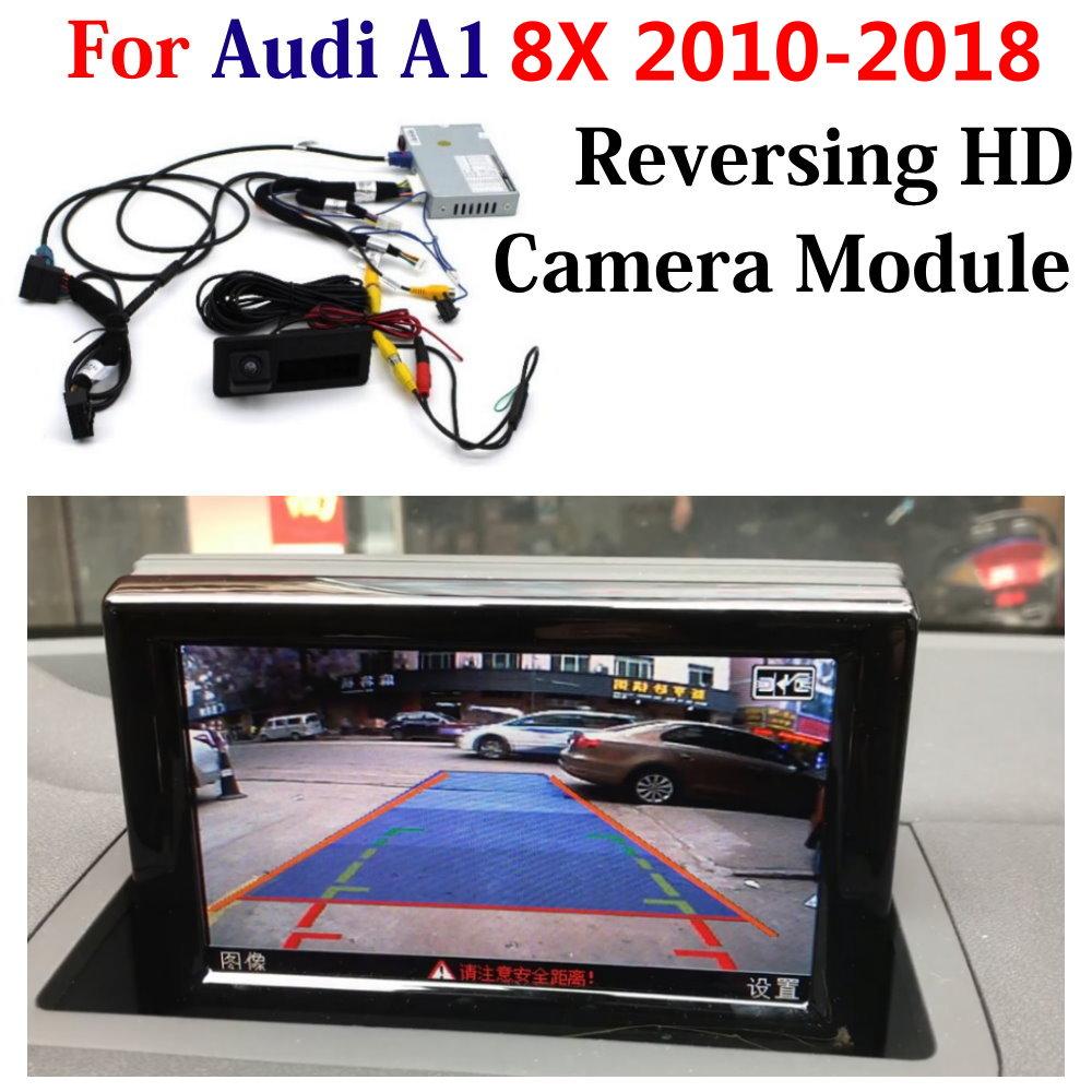 HD Передняя и задняя камеры заднего вида для Audi A1 8X 2010-2018 не подходит GB 2019 2020 оригинальный экран обновление декодер система помощи при парковк...