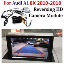 Câmera reversa traseira dianteira de hd para audi a1 8x 2011-2018 não cabem o sistema original da assistência do estacionamento do decodificador da elevação da tela do carro de gb dvr