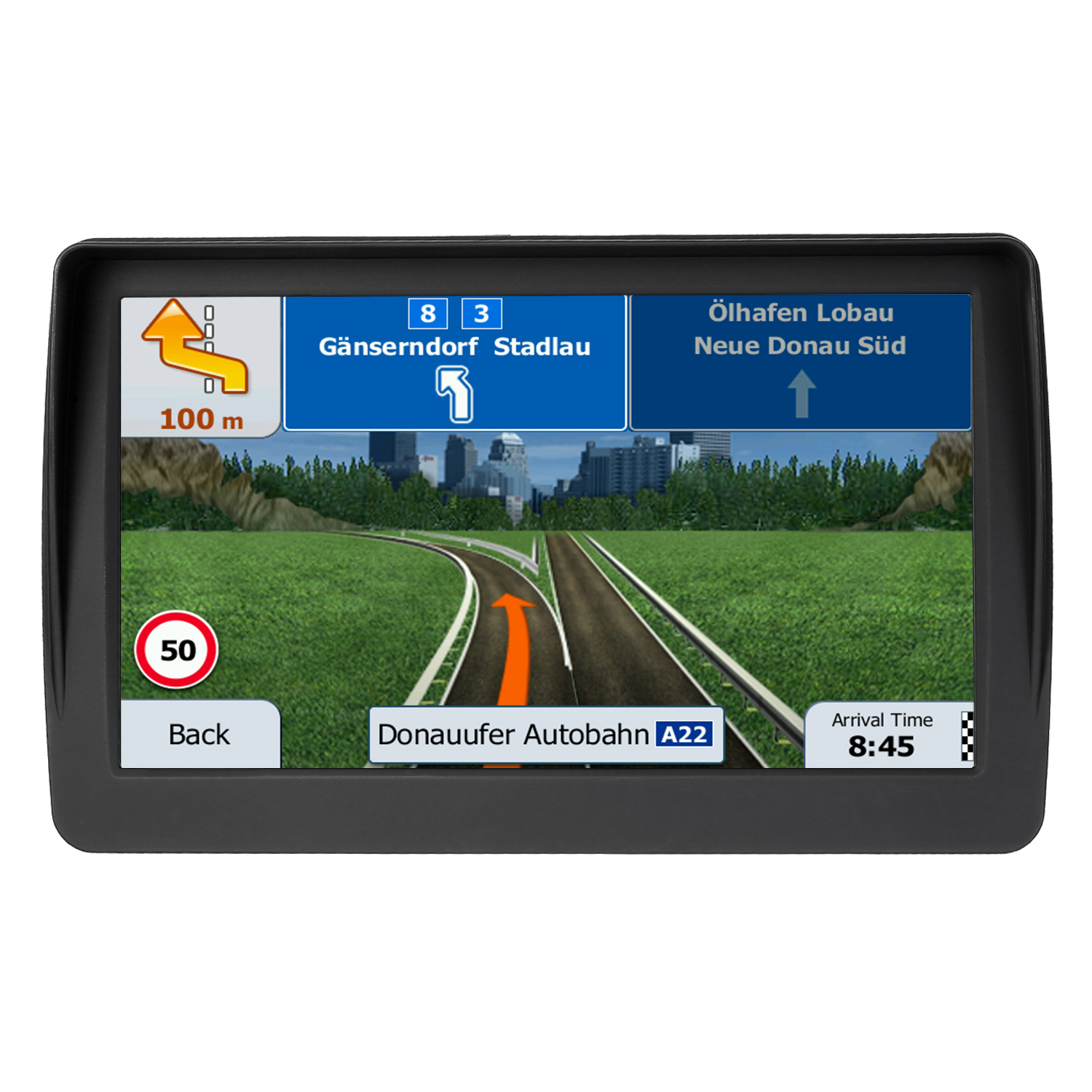 Car GPS Gps-Navigation Maps 3d-North Voice-Guidance America/europe 7inch 8G HD with Alerts title=