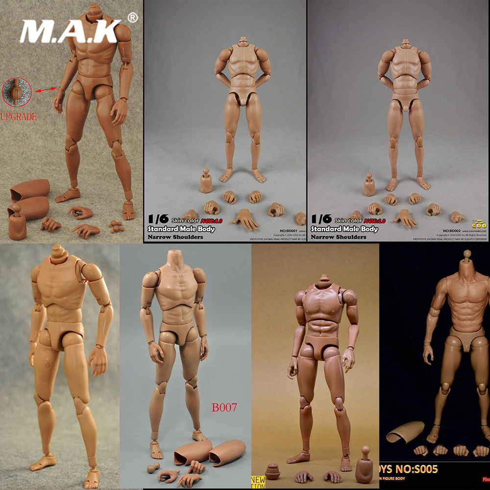 B001/B003/B007/zctoysS005/BD001/BD002/BD01 1/6 Male Narrow Shoulder Caucasian Man Body Accessory Model For 12'' Action Figure