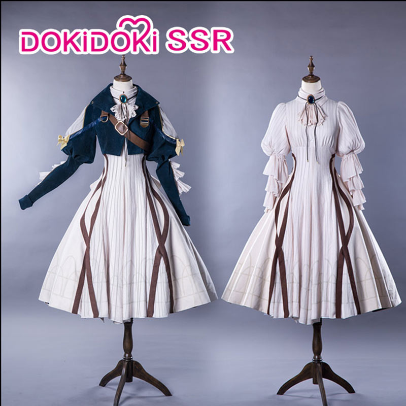 DokiDoki-SSR Anime Violet Evergarden Cosplay Women Dress Costume Anime Cosplay  Violet Evergarden