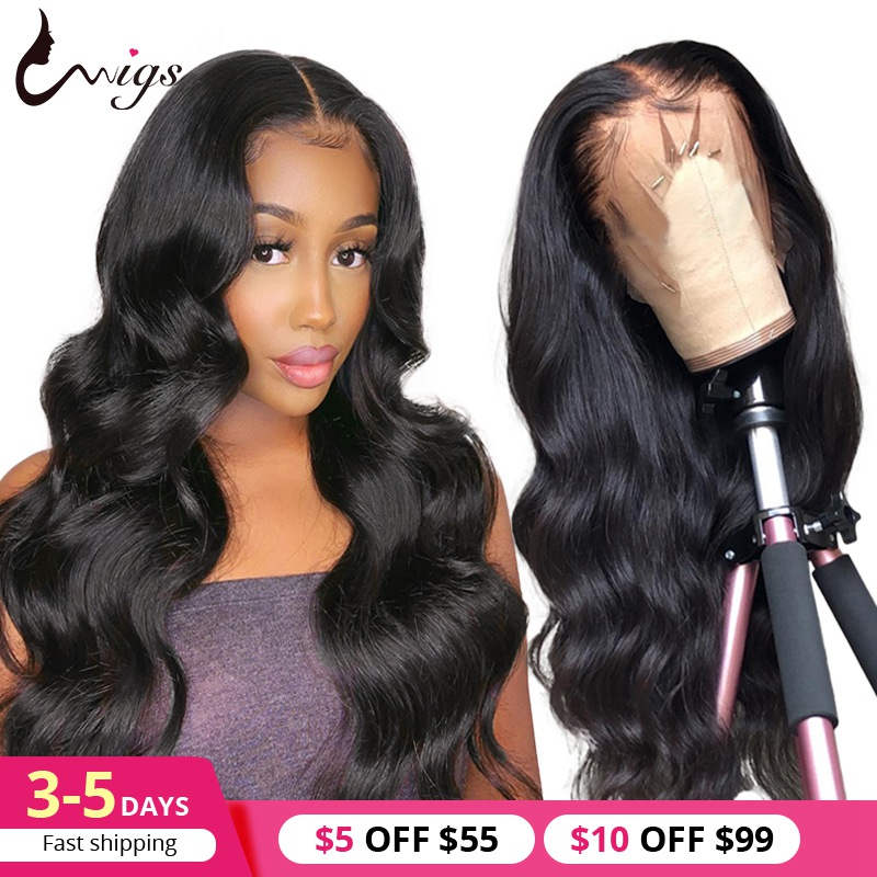 Peruvian Body Wave Wig 13X4 150 Density Lace Front Human Hair Wigs Pre Plucked 360 Lace Frontal Wig Natural 13x6 Lace Front Wig