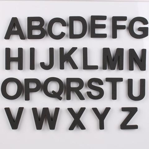capitalizados 5cm 26 pcs set eva alfabeto criancas dos miudos adesivo acessorios de decoracao para
