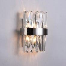 New Modern Crystal Wall Lamp Sconce LED Indoor Light Fixtures For Home Decor Bedroom Bathroom Corridor Mirror