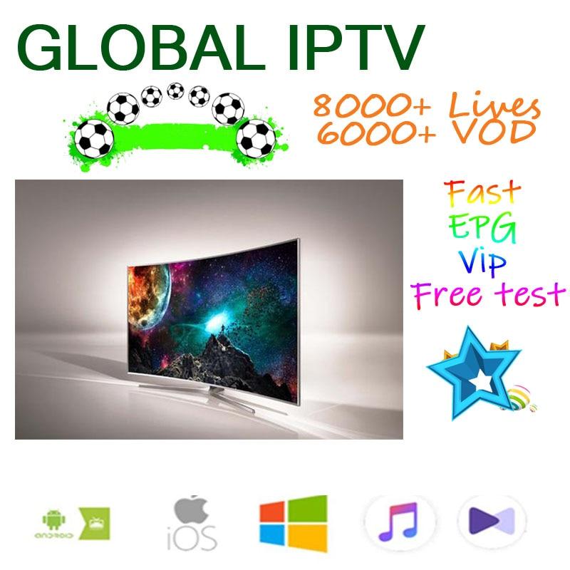 IPTV 8000+ M3U Live Ip Tv Subscription Iptv Android  Box French Spanish USA NL UK Arab For 250Mag Smart Iptv M3u Enigma2