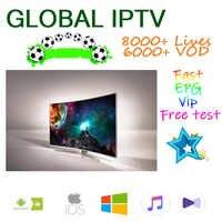 IPTV 8000 + M3U abonnement tv ip en direct iptv Android box français espagnol états-unis NL royaume-uni arabe pour 250Mag Smart iptv m3u enigma2
