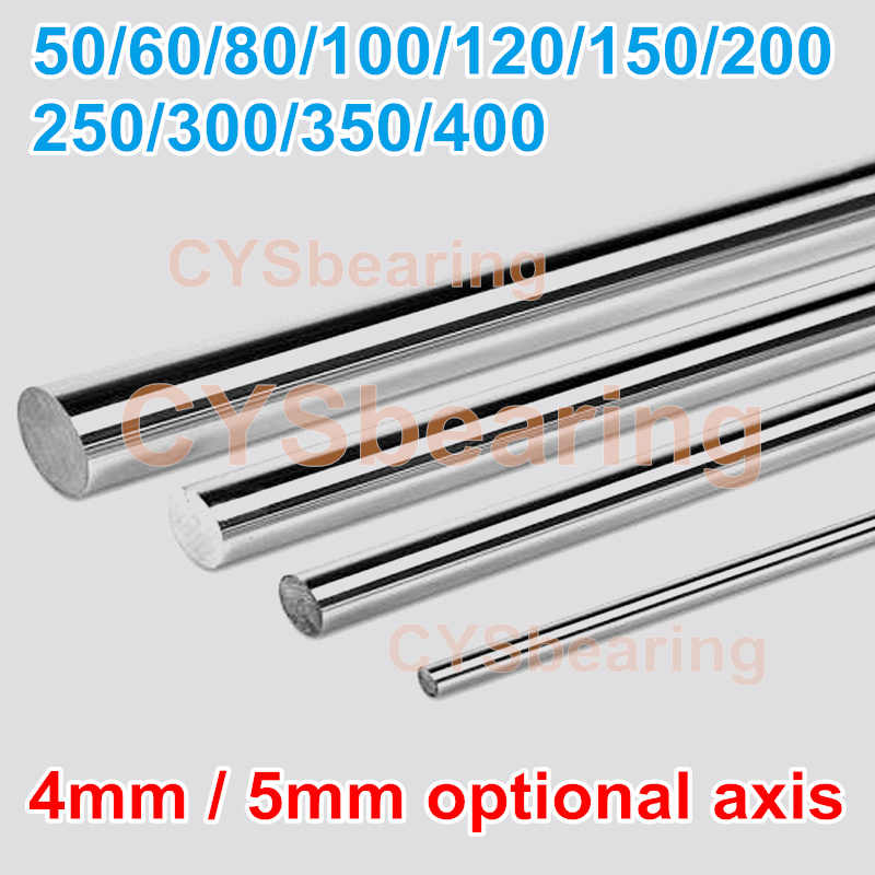 RC Model Mobil Mainan Silinder Kapal Rel Poros Optik Rod Mini Sumbu dari 4 Mm 5 Mm Panjang 50 60 80 100 120 150 200 250 300 350 400 Mm