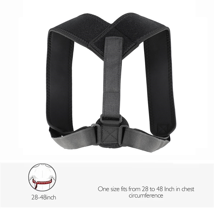 For Both Men And Women Shoulder Pad Adjustable Correction Hunchback Anti Humpback Spine Sitting  Orthotics Band Back Good Jzd-02