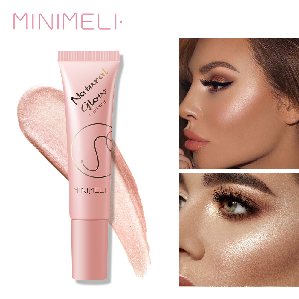 MINIMELI Face Highlighter Cream Illuminator Makeup Shimmer Bronzer Contouring Liquid Highlighter Maquiagem