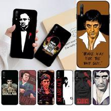 Scarface Крестный отец для мужчин, черный чехол для телефона, корпус для Huawei Honor 30 20 10 9 8 8x 8c v30 Lite view pro