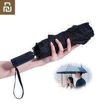 Youpin KG parapluie de pluie automatique WD1 ensoleillé pluvieux été en aluminium coupe vent imperméable UV parasol pour hommes et femmes